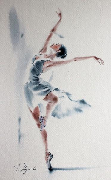 Akwarela z serii balet 13