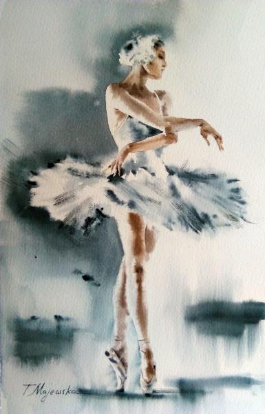 Akwarela z serii balet 15