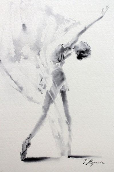 Akwarela z serii balet 42