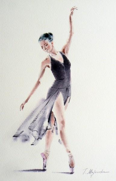 Akwarela z serii balet 63