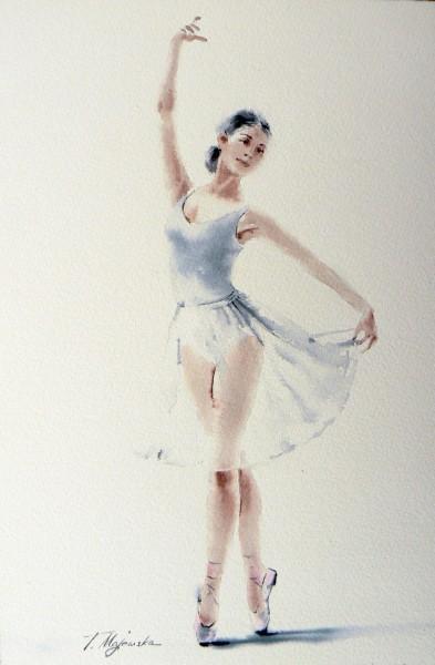 Akwarela z serii balet 82