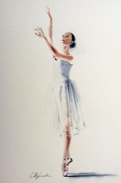 Akwarela z serii balet 83