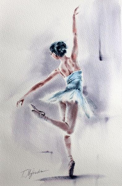 Akwarela z serii balet 84