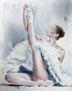 Akwarela z serii balet 10
