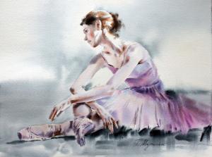 Akwarela z serii balet 11