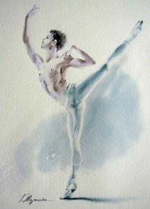 Akwarela z serii balet 12
