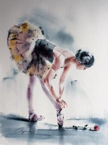 Akwarela z serii balet 14