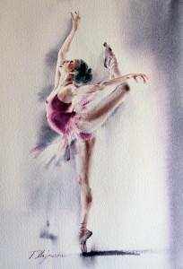 Akwarela z serii balet 16