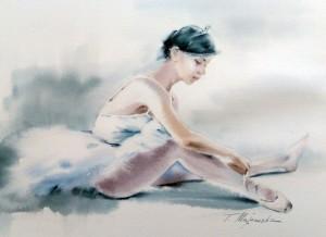 Akwarela z serii balet 17