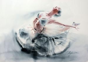 Akwarela z serii balet 18