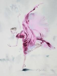 Akwarela z serii balet 19