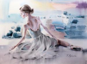 Akwarela z serii balet 2