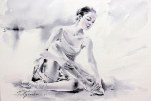 Akwarela z serii balet 20