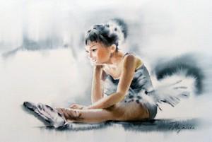 Akwarela z serii balet 22