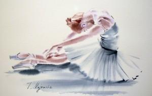 Akwarela z serii balet 23