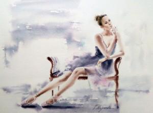 Akwarela z serii balet 24