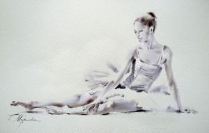 Akwarela z serii balet 25