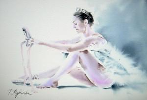 Akwarela z serii balet 26