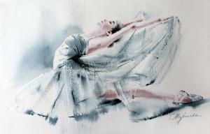 Akwarela z serii balet 27