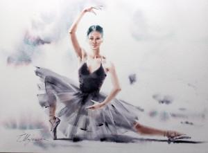 Akwarela z serii balet 28