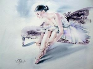 Akwarela z serii balet 29