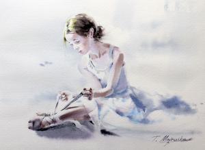 Akwarela z serii balet 3