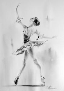 Akwarela z serii balet 30