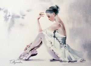 Akwarela z serii balet 31