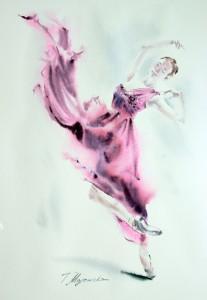 Akwarela z serii balet 32