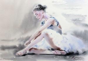 Akwarela z serii balet 33