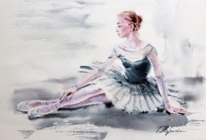 Akwarela z serii balet 34