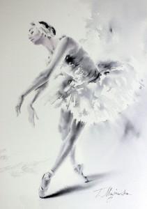 Akwarela z serii balet 35