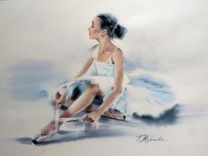 Akwarela z serii balet 36