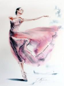 Akwarela z serii balet 37
