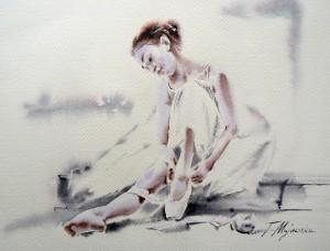 Akwarela z serii balet 38