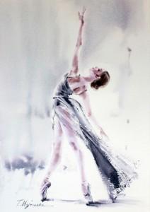 Akwarela z serii balet 39