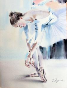 Akwarela z serii balet 4