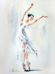 Akwarela z serii balet 40