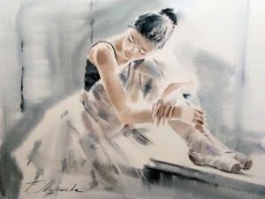 Akwarela z serii balet 41
