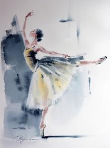 Akwarela z serii balet 44