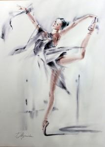 Akwarela z serii balet 45