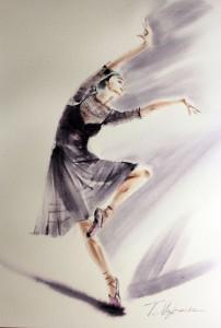Akwarela z serii balet 46