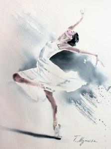 Akwarela z serii balet 47