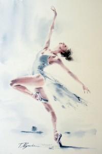 Akwarela z serii balet 48