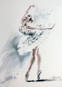Akwarela z serii balet 49