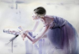 Akwarela z serii balet 5