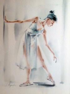 Akwarela z serii balet 50