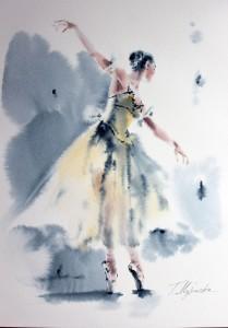 Akwarela z serii balet 51