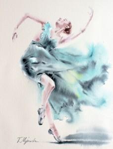 Akwarela z serii balet 52