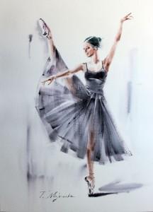 Akwarela z serii balet 53